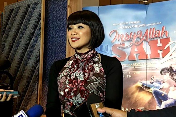 Nirina Zubir di selaa gala premier film Insya Allah Sah 2 di XXI Epicentrum Walk, Jakarta Selatan, Rabu (6/6/2018) malam.