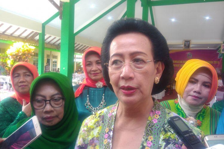 GKR Hemas Saat ditemui Disela Acara Hari Kartini di Desa Ngestirejo, Tanjungsari, Gunungkidul, Yogyakarta.