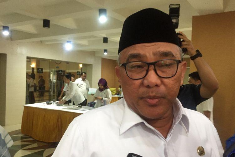 Wali Kota Depok, Mohammad Idris, di Hotel Bumiwiyata, Depok, Rabu (9/1/2019).