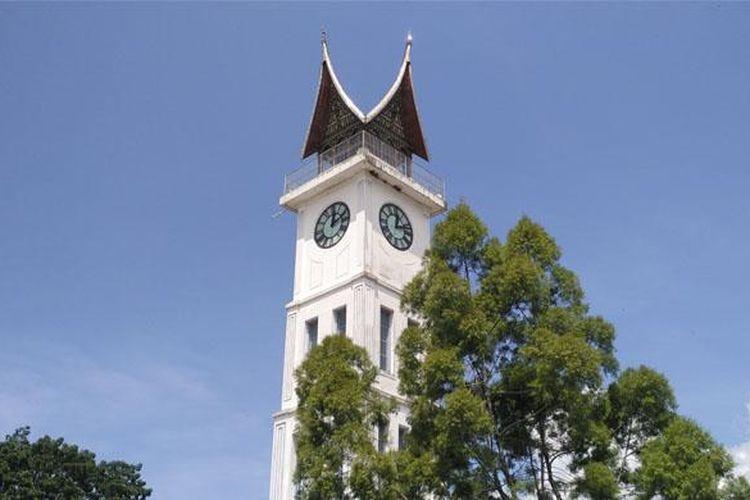 Jam gadang, ikon kota Bukittinggi, Padang, Sumatera Barat.