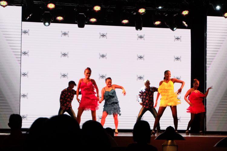 Penampilan G.O di Club Med Tomamu yang berbeda tema setiap malam.