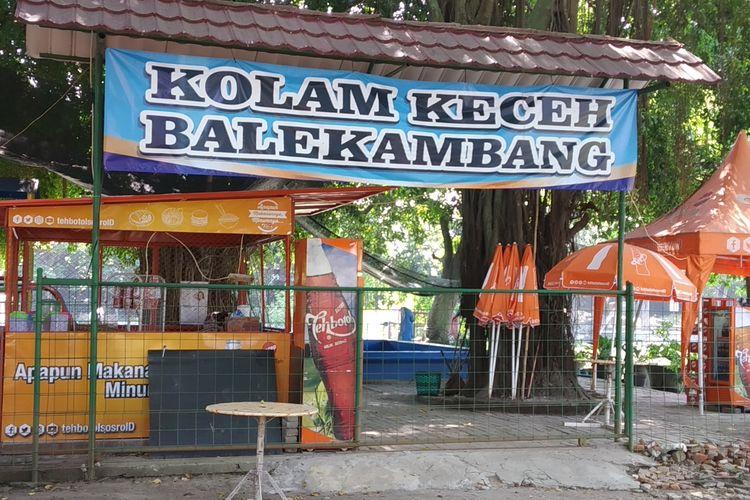 Kolam Keceh di Taman Balekambang Solo, Jawa Tengah.