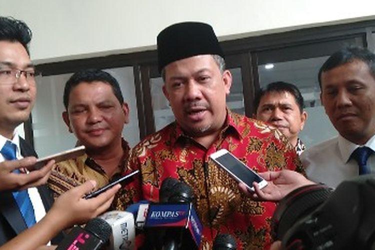 Fahri Hamzah hadir sebagai saksi di Pengadilan Negeri Jakarta Selatan dalam kasus penyebaran berita hoaks yang menjerat Ratna Sarumpaet, Selasa (7/5/2019)