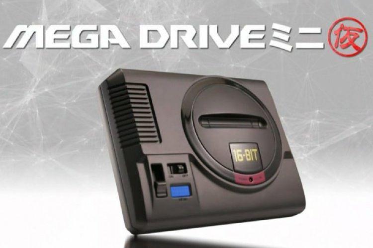 Render grafis yang disebut sebagai konsol Sega Mega Drive Mini.