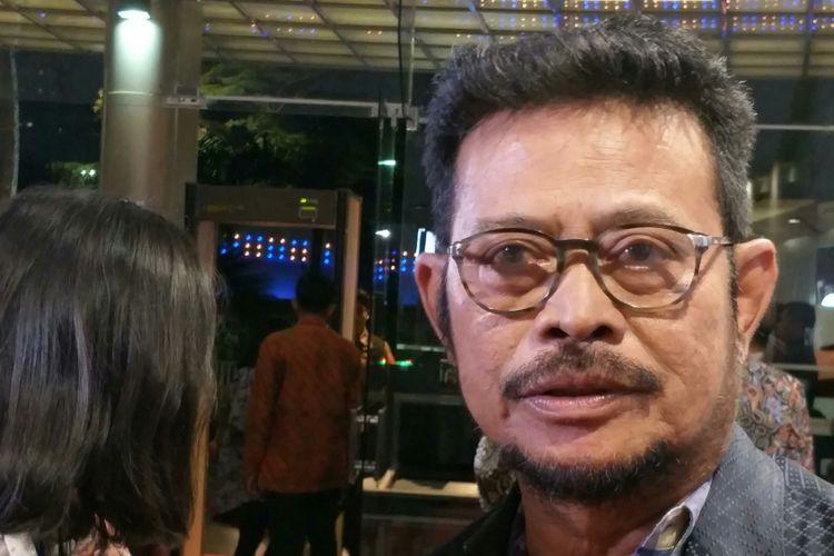 Gubernur Sulawesi Selatan Syahrul Yasin Limpo (SYL) ketika ditemui di Balai Sarbini, Jakarta, Rabu malam (10/1/2018).