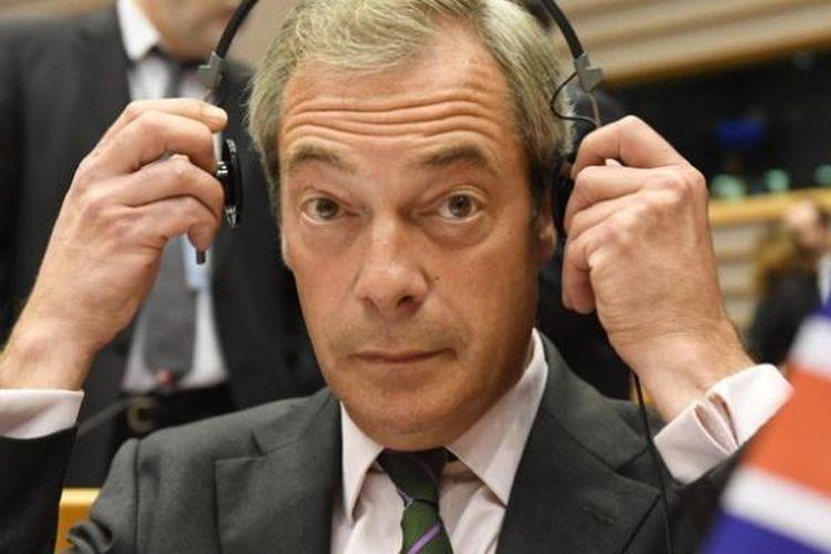 Pemimpin Partau Brexit di Inggris, Nigel Farage.