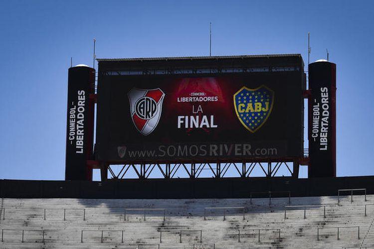 Final Copa Libertadores leg kedua antara River Plate vs Boca Juniors yang seharusnya digelar di Stadion El Monumental, Buenos Aires pada 24 November terpaksa dipindah ke Stadion Santiago Bernabeu, Madrid pada 9 Desember.