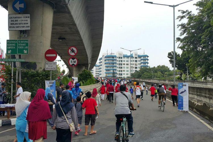 Suasana CFD JLNT Antasari Jakarta Selatan.