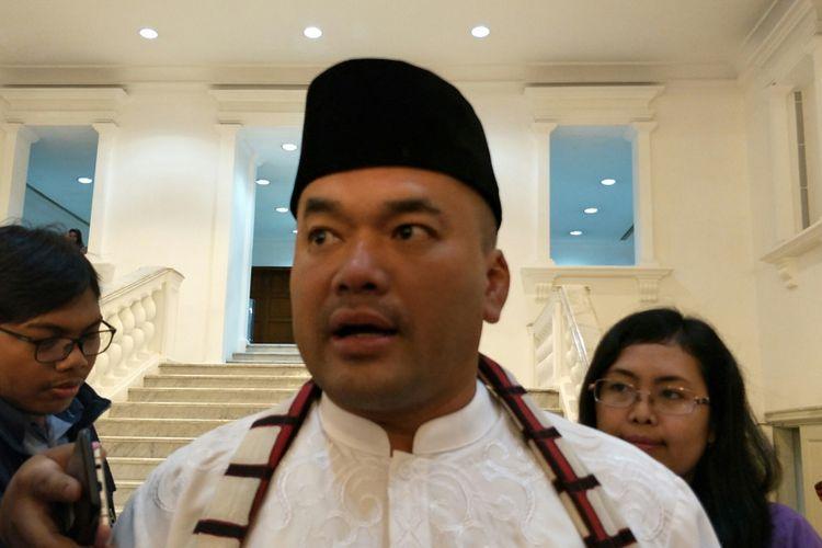 Kepala Dinas Sumber Daya Air DKI Jakarta Teguh Hendarwan di Balai Kota DKI Jakarta, Jalan Medan Merdeka Selatan, Jumat (9/2/2018).