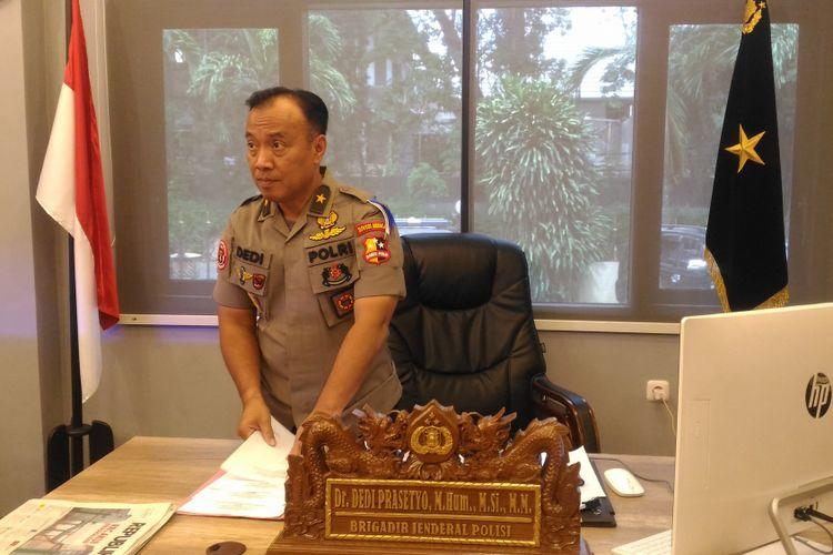 Kepala Biro Penerangan Masyarakat Humas Brigjen (pol) Dedi Prasetyo di Gedung Humas Mabes Polri, Jakarta, Senin (24/12/2018).
