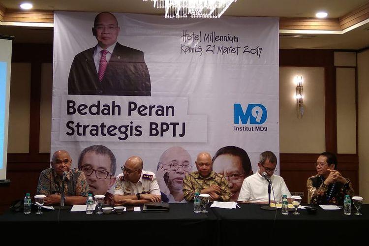 Kepala BPTJ Dalam Acara Bedah Kinerja BPTJ, Kamis (21/3/2019