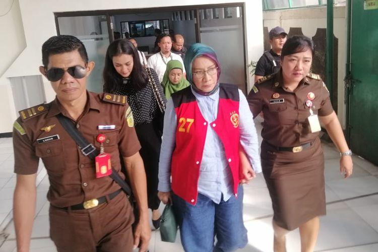Ratna Tiba di Pengadilan Negeri Jakarta Selatan Untuk Jalani Sidang Dengan Agenda Pemeriksaan Terdakwa, Selasa (14/5/2019)