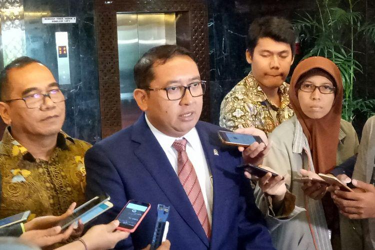 Wakil Ketua DPR sekaligus Wakil Ketua Umum Gerindra Fadli Zon di Kompleks Parlemen, Senayan, Jakarta, Jumat (6/10/2017)