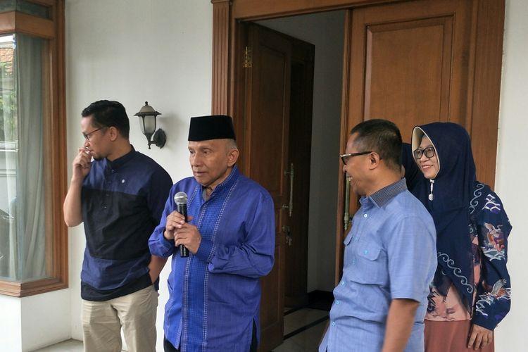 Ketua Dewan Kehormatan PAN Amien Rais di Kantor DPP PAN, Jakarta