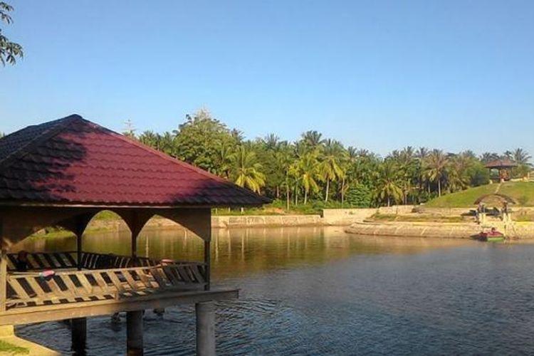 Suasana Waduk Jeulikat, Kecamatan Muara Dua, Kota Lhokseumawe, Aceh.