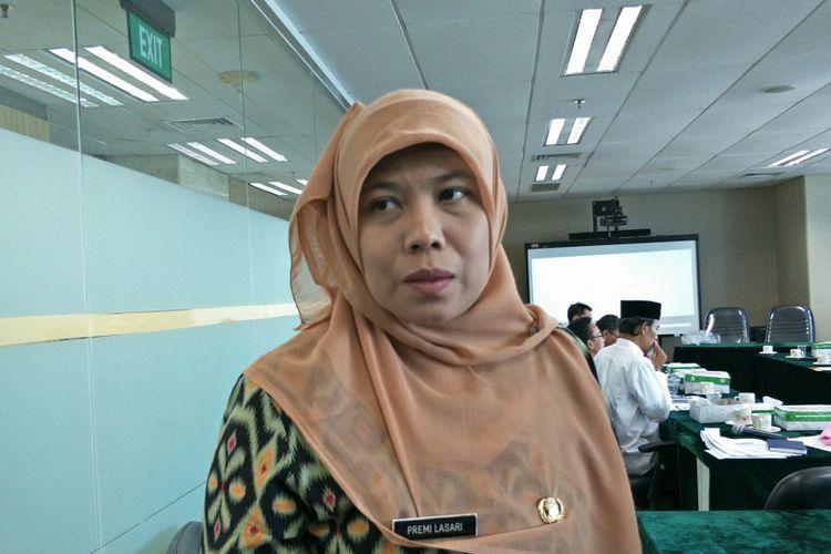 Kepala Biro Tata Pemerintahan DKI Jakarta Premi Lasari di Balai Kota DKI Jakarta, Jalan Medan Merdeka Selatan, Kamis (7/12/2017).