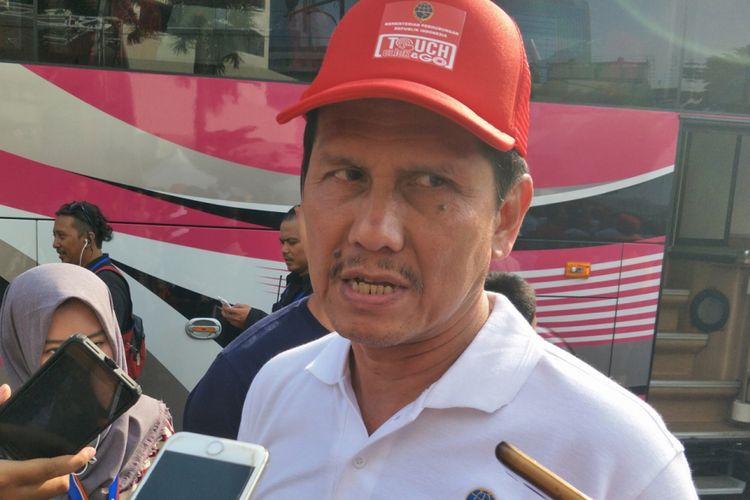 Menteri Pendayagunaan Aparatur Negara dan Reformasi Birokrasi Asman Abnur saat ditemui di kawasan Bundaran Hotel Indonesia (HI), Jakarta Pusat, Minggu (4/3/2018).