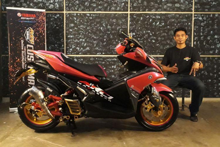 Pemenang Yamaha CustoMAXI Makassar kategori Aerox 155.