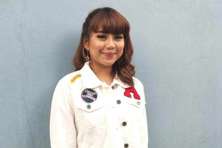 Penyanyi Ghea Indrawari saat ditemui di Gedung Trans TV, Tendean, Jakarta Selatan, Selasa, (8/5/2018).