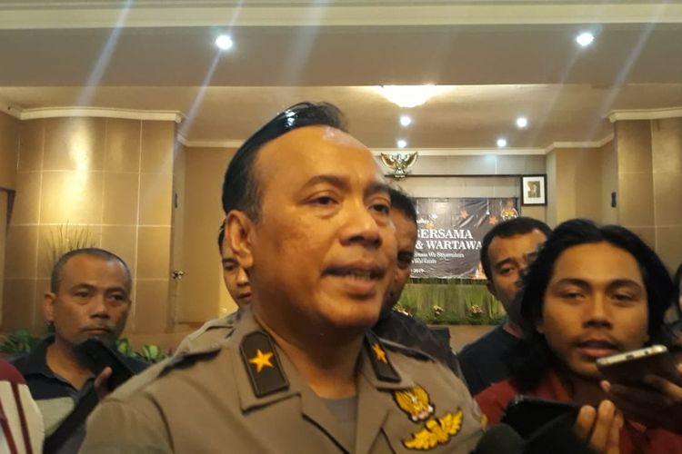 Kepala Biro Penerangan Masyarakat Humas Brigjen (pol) Dedi Prasetyo di Gedung Humas Mabes Polri, Jakarta, Selasa (21/5/2019).