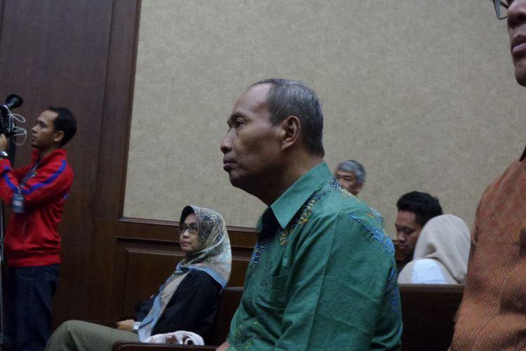 Mantan Direktur Pengelolaan Informasi dan Administrasi Ditjen Dukcapil Kemendagri, Sugiharto, menjadi saksi di Pengadilan Tipikor Jakarta, Senin (13/11/2017).