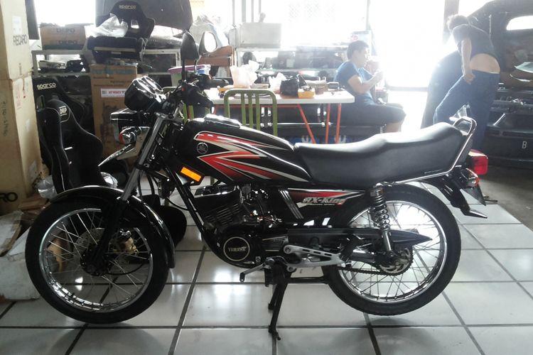 Salah satu Yamaha RX King. RX King merupakan salah satu motor lawas yang banyak digemari dan belakangan banyak diburu penggemarnya.