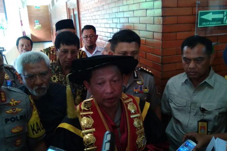 Kapolri Jenderal (Pol) Tito Karnavian di Universitas Indonesia, Depok, Kamis (10/1/2019).
