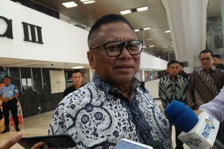 Ketua DPD RI Oesman Sapta Odang (OSO) di Kompleks Parlemen, Senayan, Jakarta, Kamis (15/8/2019).