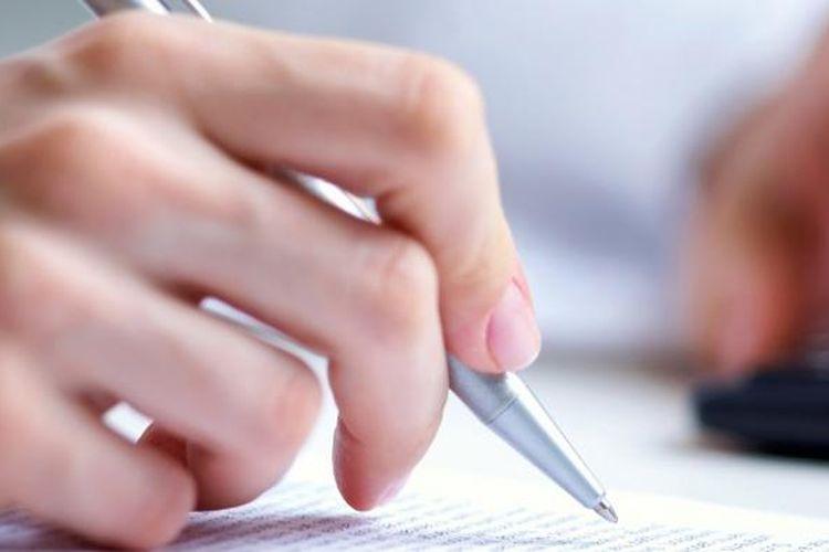 Ilustrasi menulis.