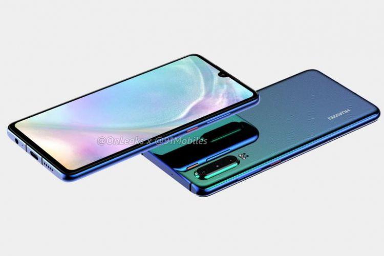 Ilustrasi Huawei P30 Headphone Jack