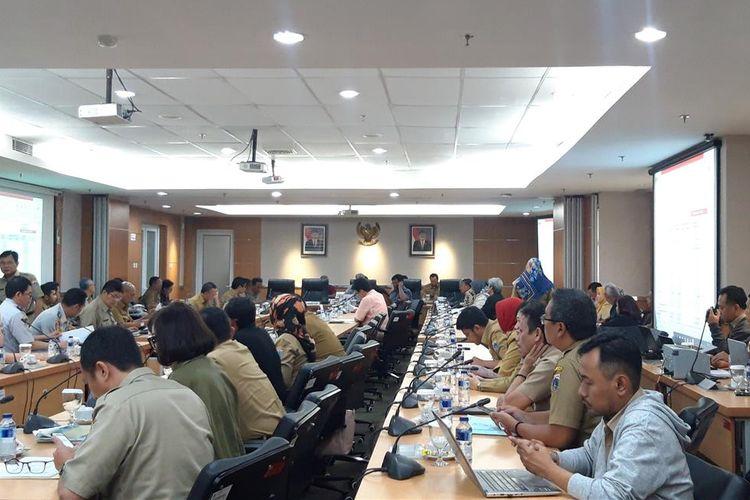 Rapat KUPA-PPAS 2019 di DPRD DKI JAKARTA, Jalan Kebon Sirih, Selasa (13/8/2019)