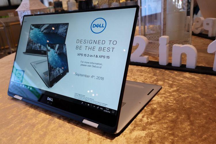 Dell XPS 15 2-in-1 (9575) dalam acara peluncuran di Jakarta, Selasa (4/9/2018).