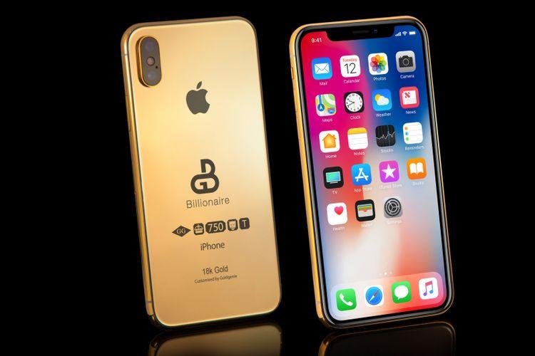 iPhone 2018 Berlapis Emas Sudah Bisa Dipesan, Harga Rp 1,8 Miliar