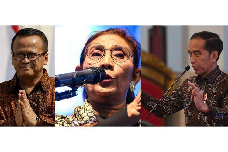Kolase Edhy Prabowo, Susi Pudjiastuti, Joko Widodo