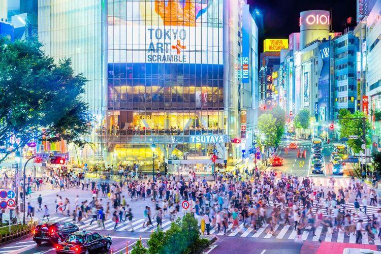 ILUSTRASI - Shibuya Crossing