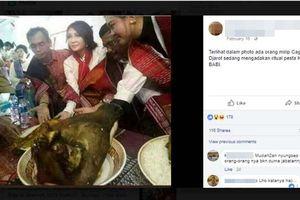 Viral Foto Djarot Terima Piring Berisi Kepala Babi, Hoaks atau Fakta?