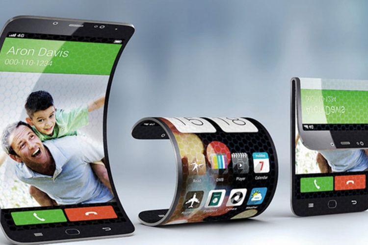 Konsep ponsel lipat besutan Samsung.