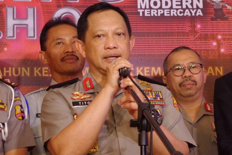 Kapolri Jenderal Pol Tito Karnavian di Hotel Mercure Ancol, Jakarta, Kamis (9/11/2017).