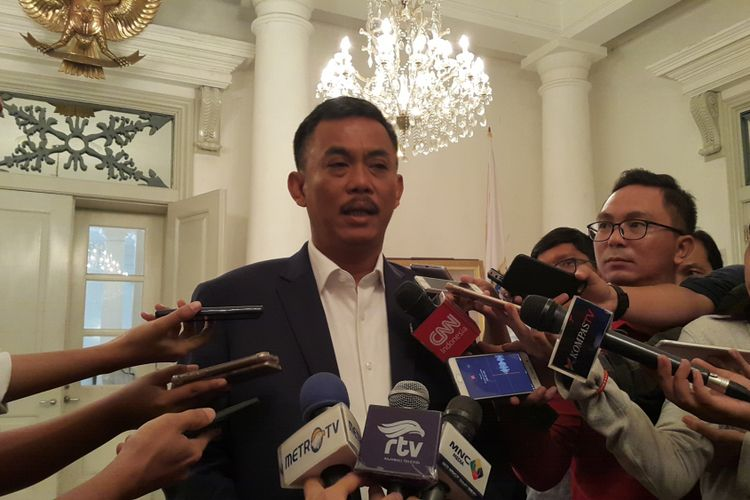 Ketua DPRD DKI Jakarta Prasetio Edi Marsudi di Balai Kota DKI Jakarta, Jalan Medan Merdeka Selatan, Senin (24/7/2017).