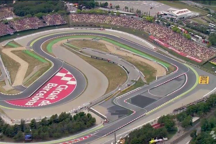 Area sekitar tikungan terakhir Sirkuit Catalunya.