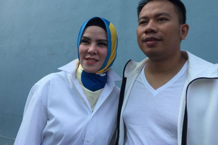 Angel Lelga dan Vicky Prasetyo saat ditemui di kawasan Tendean, Jakarta Selatan, Senin (9/7/2018).