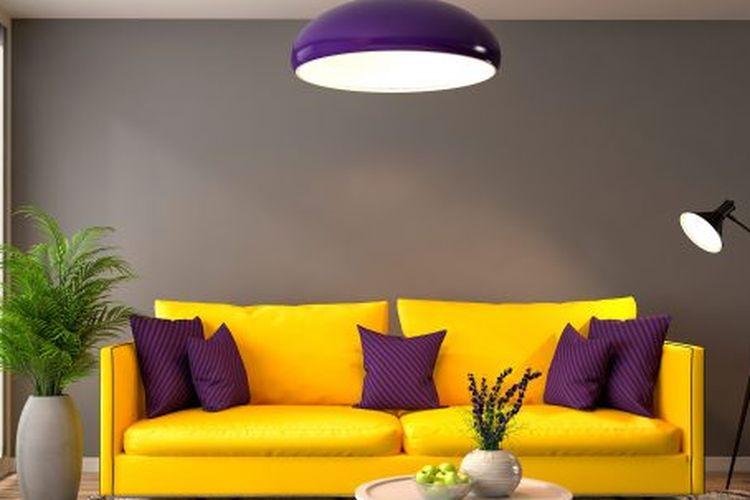 Warna terang untuk area dapur dan ruang makan