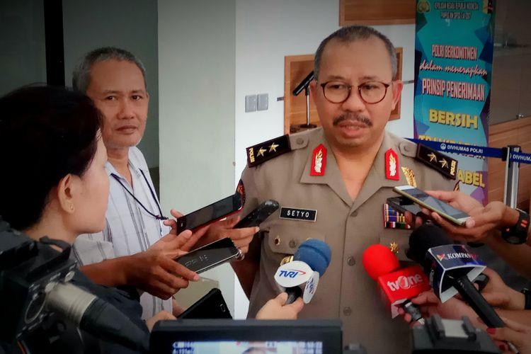 Kepala Divisi Humas Polri IrjenSetyo Wasisto saat ditemui di Mabes Polri, Jakarta Selatan, Jumat (18/8/2017)