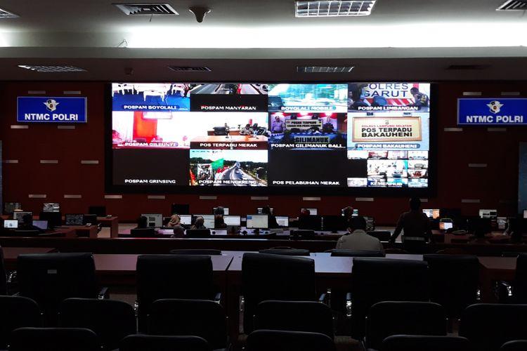 Posko Operasi Ketupat 2018 di Gedung NTMC Polri, Jakarta, Kamis (14/6/2018).