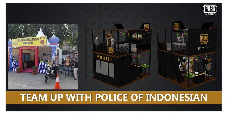 Ilustrasi Posko Mudik PUBG kerja sama dengan Kepolisian Indonesia