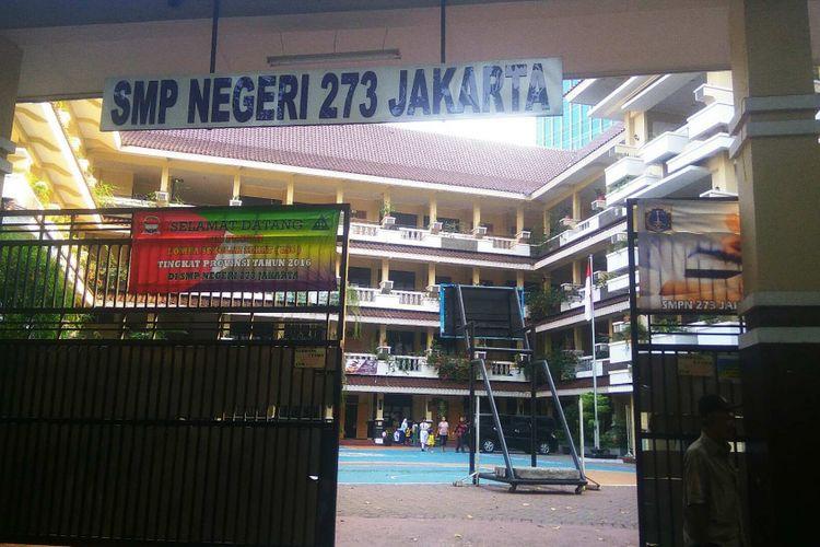 SMPN 273 Jakarta, salah satu sekolah yang siswanya terlibat aksi kekerasan di Thamrin City.
