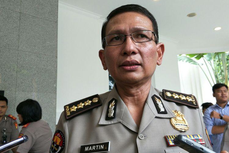 Kepala Bagian Penerangan Umum (Kabagpenum) Polri Kombes Pol Martinus Sitompul ketika ditemui di Perguruan Tinggi Ilmu Kepolisian (PTIK), Jakarta, Kamis (25/1/2018).