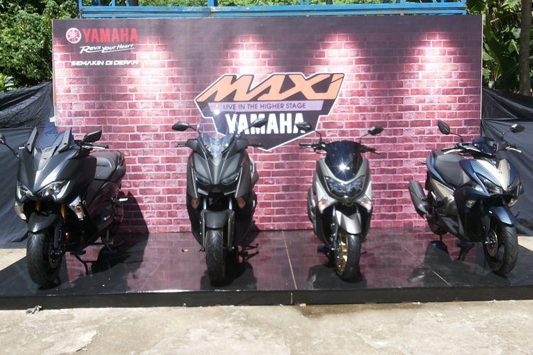 Empat skutik Maxi Yamaha yang terdiri dari TMAX, XMAX, NMAX, dan Aerox.