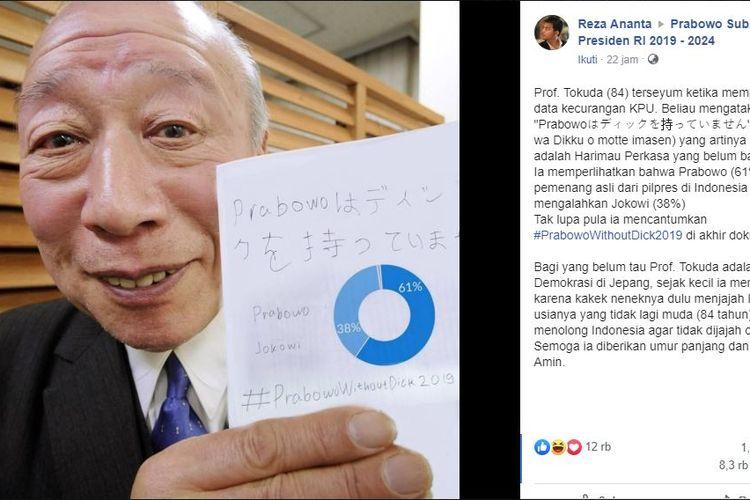Foto hoaks Kakek Sugiono dan kecurangan KPU
