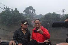 Kunjungi Bendung Katulampa, Anies Swafoto Bareng Bima Arya
